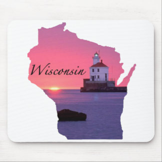 Wisconsin Lighthouse Mouse Pad