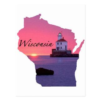 Wisconsin Lighthouse Postcard