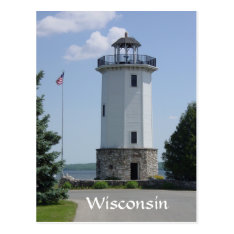 Wisconsin Lighthouse Postcard at Zazzle