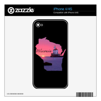 Wisconsin Lighthouse Zazzle Skin Skin For iPhone 4S