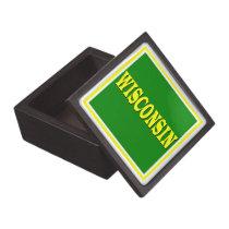 "Wisconsin LL 3"" Square Premium Jewelry & Gift Box"