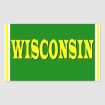 Wisconsin LL Rectangle Sticker