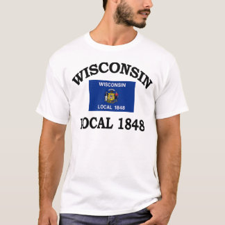 Wisconsin Local 1848 Flag T-Shirt