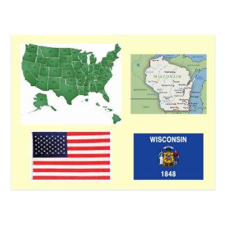 Wisconsin, los E.E.U.U. Tarjeta Postal