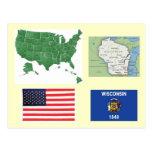 Wisconsin, los E.E.U.U. Tarjetas Postales