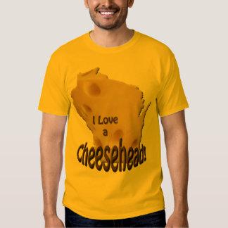 Wisconsin Love a Cheesehead Mens Gold T-shirt