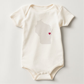 Wisconsin Love For Baby Baby Bodysuit