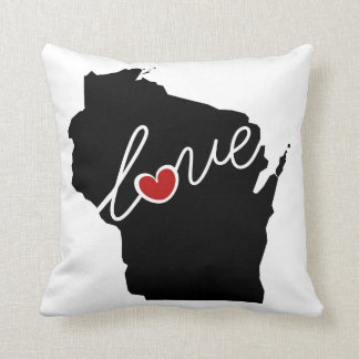Wisconsin Love!  Gifts for WI Lovers Pillow