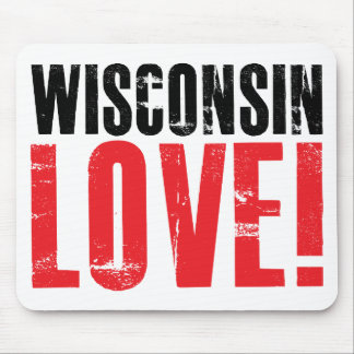 Wisconsin Love Mouse Pad