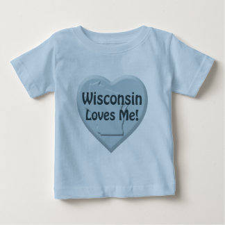 Wisconsin Loves Me Blue Intant T-shirt
