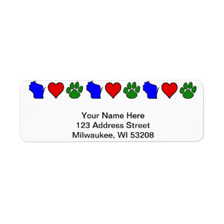 Wisconsin Loves Pets Address Labels