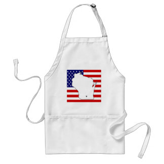 WISCONSIN MAP ADULT APRON