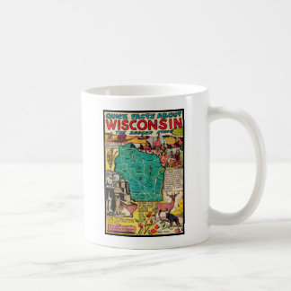 Wisconsin Map and Facts Coffee Mug