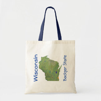 Wisconsin Map Bag