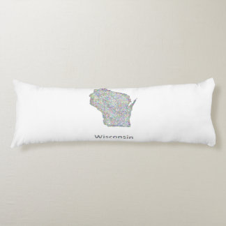 Wisconsin map body pillow