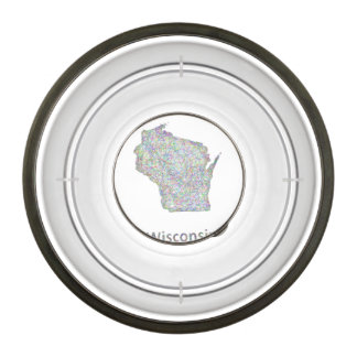 Wisconsin map bowl