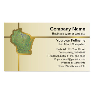 Wisconsin Map Business Card