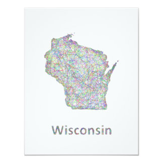 Wisconsin map card