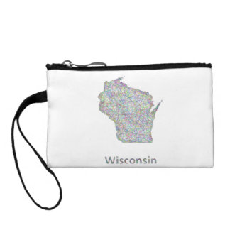 Wisconsin map coin purse