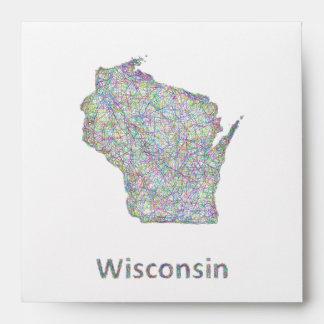 Wisconsin map envelope