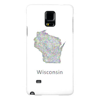 Wisconsin map galaxy note 4 case