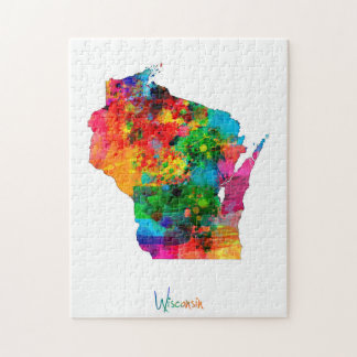 Wisconsin Map Jigsaw Puzzle