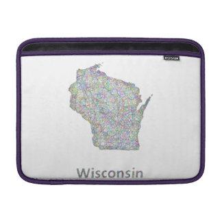 Wisconsin map MacBook sleeve