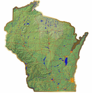 Wisconsin Map Magnet Cut Out