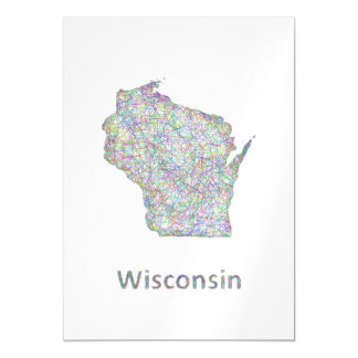 Wisconsin map magnetic card