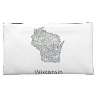 Wisconsin map makeup bag