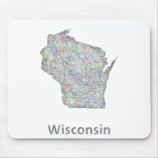 Wisconsin map mouse pad