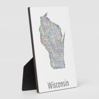 Wisconsin map plaque