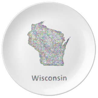 Wisconsin map plate