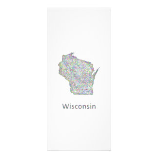 Wisconsin map rack card