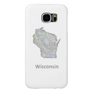 Wisconsin map samsung galaxy s6 case