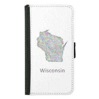 Wisconsin map wallet phone case for samsung galaxy s5