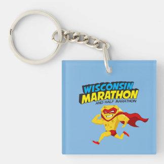 Wisconsin Marathon Race Day Keychain