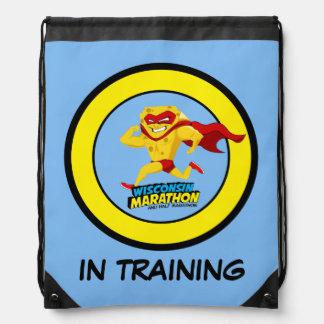 Wisconsin Marathon Training Drawstring Backpack