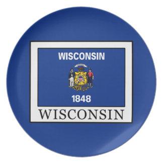 Wisconsin Melamine Plate