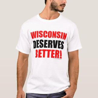 Wisconsin merece mejor (los colores claros) playera