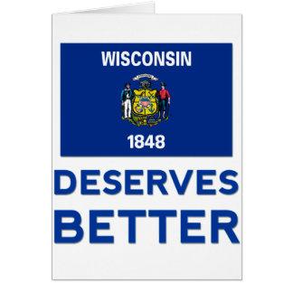Wisconsin merece mejor tarjeta de felicitación