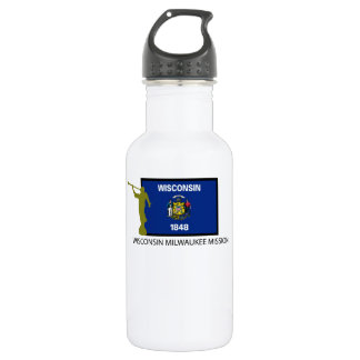 WISCONSIN MILWAUKEE MISSION LDS CTR STAINLESS STEEL WATER BOTTLE