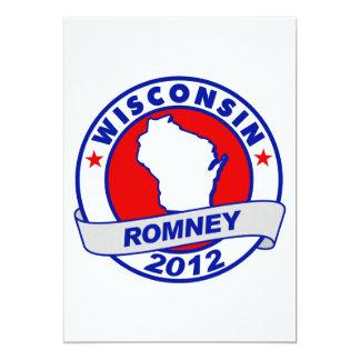 Wisconsin Mitt Romney 5x7 Paper Invitation Card