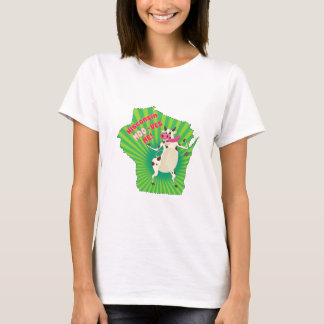Wisconsin Moo-ves Me! Groovy cow T-Shirt