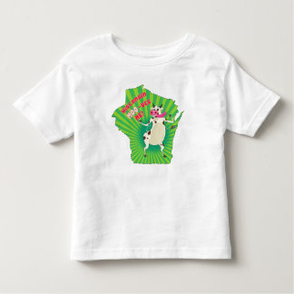 Wisconsin Moo-ves Me! Groovy cow t-shirt for kids