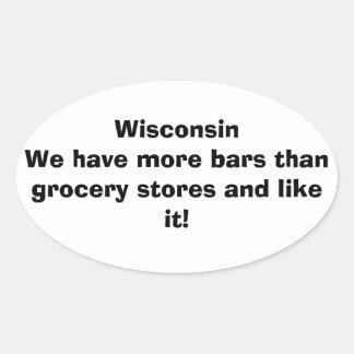 Wisconsin more bars sticker