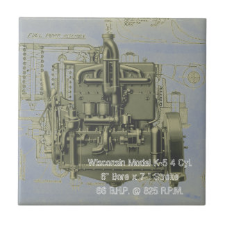 Wisconsin Motor Milwaukee Wisconsin Engine Early K Ceramic Tile