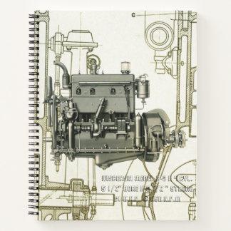 Wisconsin Motor Milwaukee Wisconsin gas engine B-3 Notebook