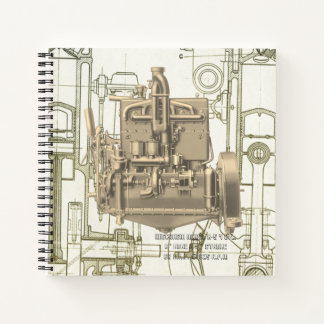 Wisconsin Motor Milwaukee Wisconsin gas engine  K5 Notebook