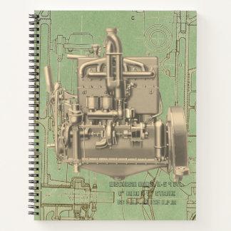 Wisconsin Motor Milwaukee Wisconsin gas engine  K Notebook